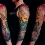 Abstract City tattoo sleeve