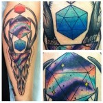 Abstract Deer Skull New School tattoo by Last Angels Tattoo