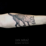 Abstract Dog tattoo by Jan Mràz
