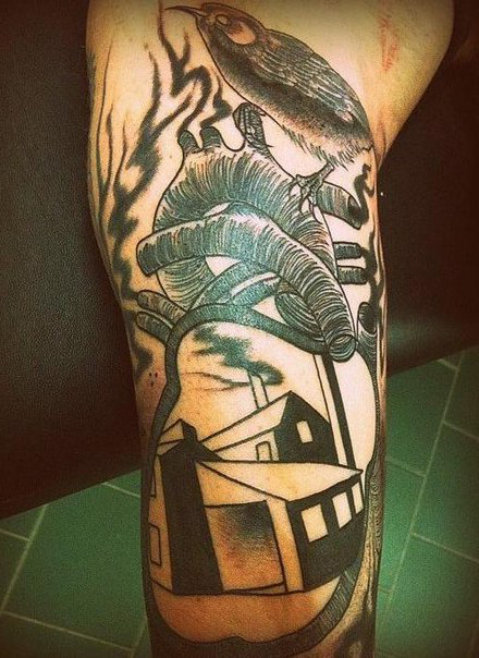 Abstract Houses Graphic tattoo idea