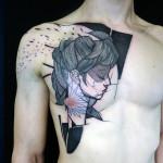 Amazing Girl Face tattoo by Jan Mràz