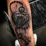 Amazing Heart Lock Realistic tattoo by Drew Apicture