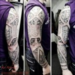 Amazing Mechanical Arm Biomeachanical tattoo sleeve