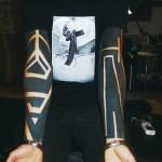 Amazing Really Black Blackwork tattoo sleeve