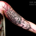 Anatomy Ribs Drawing tattoo by Jan Mràz