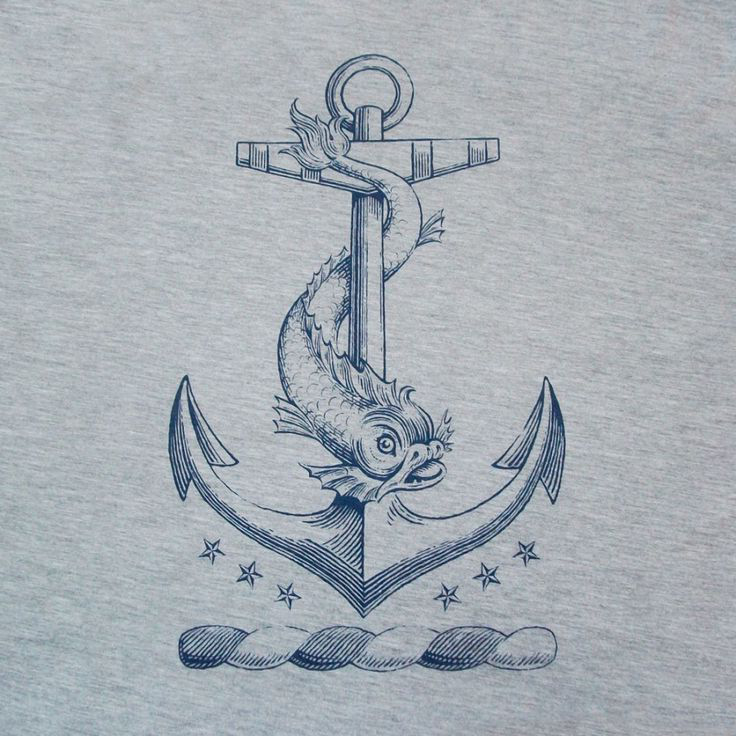 Anchor Nautical tattoo sketch