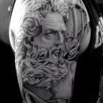 Ancient Roman Beard Realistic tattoo by Westfall Tattoo