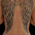 Angel Wings 3D tattoo by Black Ink Studio
