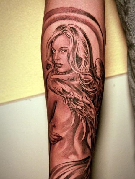 Angel Wings Chicano tattoo