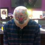 Angry Traditional Tiger head tattoo design