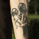 Aqualung Helmet Love Graphic tattoo idea