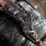 Asian Samurai Realistic tattoo by Drew Apicture