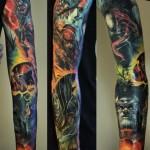 Avengers Crew Realistic tattoo sleeve