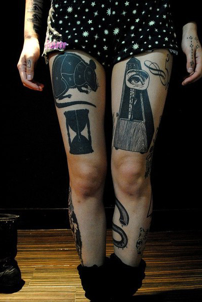Awesome Legs Graphic tattoo idea