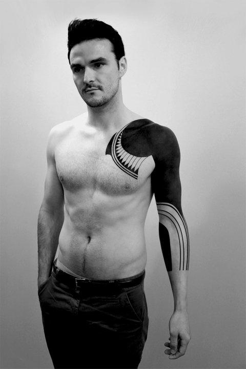 Awesome  One Hand Blackwork tattoo idea
