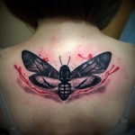 Back Moth Trash Polka tattoo