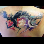 Ballet Dancers Aquarelle tattoo by Adam Kremer