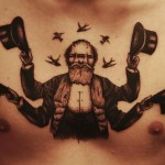 Beardy Janus Graphic tattoo idea