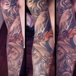 Bible Scene tattoo sleeve