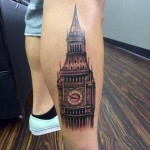 Big Ben Realistic tattoo by Last Angels Tattoo