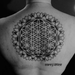 Big Centre Dots Dotwork tattoo by Corey Divine