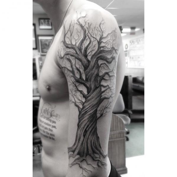 Big Old Tree tattoo by Dr Woo on Hand