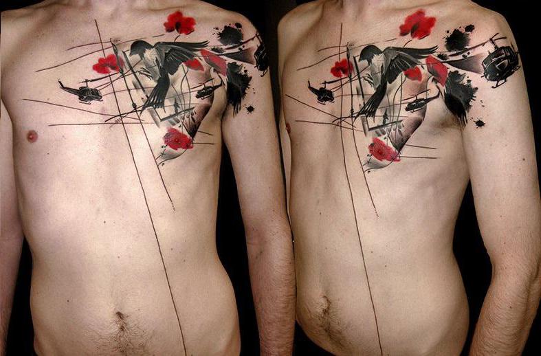 Helicoter's Nature Trash Polka tattoo