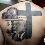 Black Cross Quote tattoo by Mad-art Tattoo