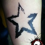 Black Star Blackwork tattoo by Mad-art Tattoo