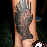 Black Wing tattoo by Mad-art Tattoo
