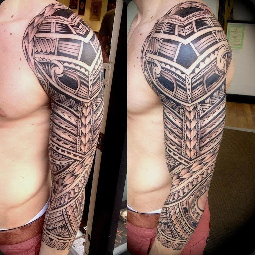 blackwork maori tattoo sleeve best tattoo ideas gallery. Black Bedroom Furniture Sets. Home Design Ideas
