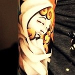 Blond Hair Sad Girl tattoo sleeve