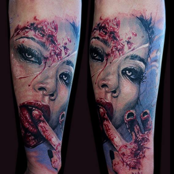 Blood Thirst Realistic tattoo by Jak Connolly