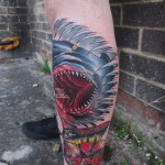 Bloody Teeth Shark tattoo by Marked For Life