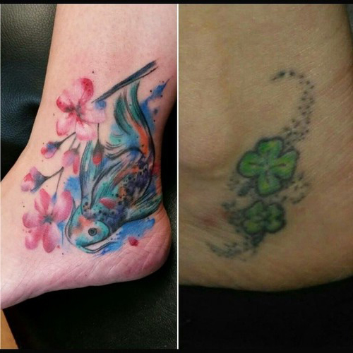 Blue Fish Cover Up tattoo