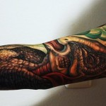 Book Print Dinosaur tattoo sleeve Illustration