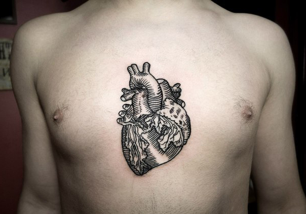 Bookish Heart Graphic tattoo idea