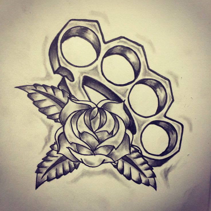 brass knuckles old school tattoo sketch best tattoo ideas gallery. Black Bedroom Furniture Sets. Home Design Ideas