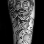 British Pince-nez Graphic tattoo by Westfall Tattoo
