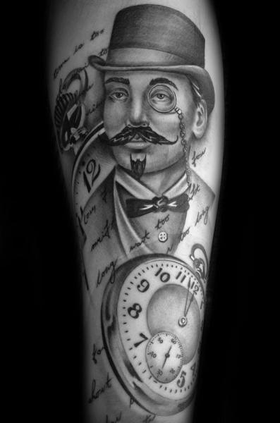 British Pince-nez Graphic tattoo by Westfall Tattoo