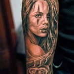 Bucks Rose Girl Chicano tattoo