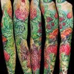 Bug Life and Berries tattoo sleeve