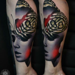Butterfly Girl tattoo by AD Pancho