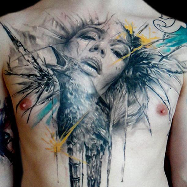 Calling for You Raven Trash Polka tattoo