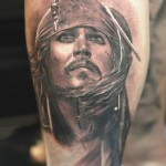 Captain Jack Sparroow Chicano tattoo
