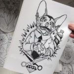 Cat Barber tattoo sketch