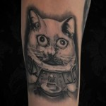 Cat Marine Graphic tattoo by Black Ink Studio