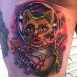 Cat Space Marine tattoo by Johnny Smith Art