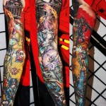 Characters of Final Fantasy tattoo sleeve