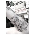 Circle Loops Body Rabbit tattoo by Dr Woo